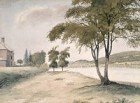 Fredericton, scene on the St. John river, including Government House, 1840, NAC.jpg