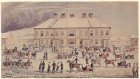 Meeting of Sleigh Club at the Barracks in Saint John, 1837 by R. G. A. Levinge
